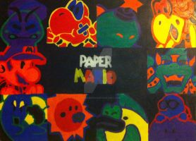 Paper Mario Pop Art by FlareonRocks