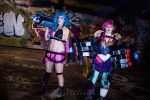Jinx and Vi by fiery-dragon