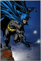 Batman on Roof by D Finch by Edward-James-K