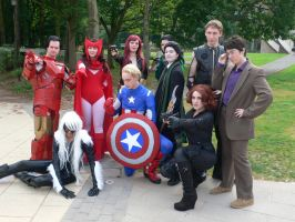 The Avengers group shot 2 Amecon '12 by KaniKaniza