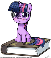 Filly Twilight with Glasses by johnjoseco