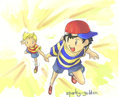 Lucas and Ness by Zengel