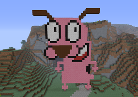 Minecraft- Courage the cowardly Dog by JennyBean4u