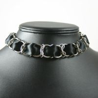 Black Satin Ribbon Necklace I by Utopia-Armoury