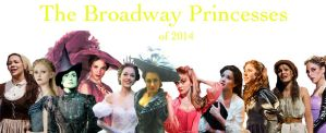 The Broadway Princess Lineup by KatePendragon