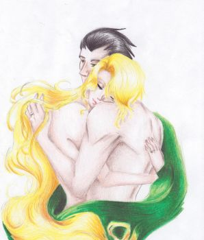 Hold on to Your Heart: Loki x Sigyn by silverfangcracker