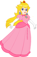 Princess Toadstool Peach by Kandechan