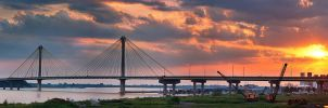 .:Clark Bridge Sunset:. by RHCheng