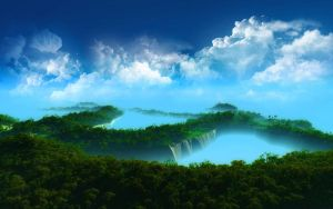 Clouds and Forest by anttiiiii