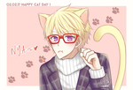 Happy Valentines-Cat Day! by kitchaaan
