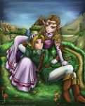 Link and Zelda by AlineMendes