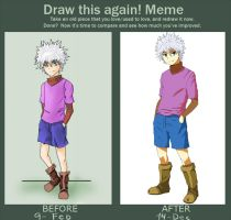 Before and After meme : Killua by Otter-10