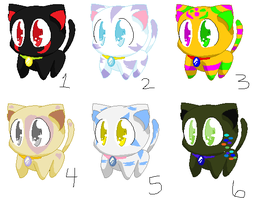 ::CLOSED:: Kitty Point Adoptables by wolfpacks11