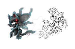 Doodle: Blaze then and now. by Kyaatto