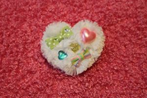 Multi Color Fuwa Fuwa Heart by Vanilla-Cupcake