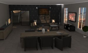 3d living room by DriverBE