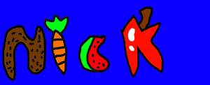 Nick Logo Shaped as Foods by NickelodeonLover