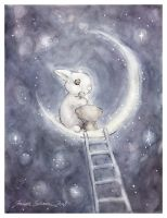 Moon Rabbit by DreamsOfALostSpirit