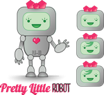 Commission: Pretty Little Robot Logo by ColeenDanger