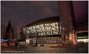 HDR Cardiff Bay At Night by Rovanite