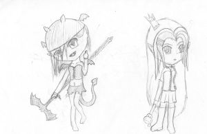 Chibi sketches by maybirdfan