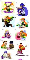 Splatoon HUGE ASS Art Dump07 by TamarinFrog
