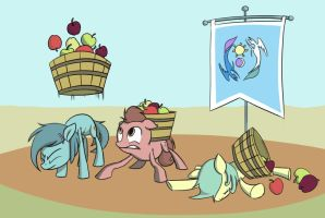 Apple Pushups by JustDayside