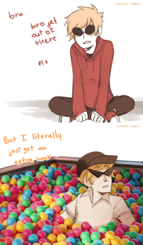 Extra Hour in the Ballpit by ikimaru-art