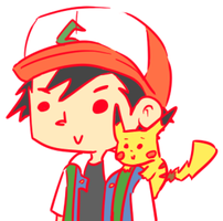 ash and pikachu by julzmae