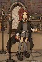 Kia Ryou at Hogwarts by DrNero