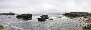 THE OCEAN FRONT LOUISBOURG'S ROCKY SHORE by lawrencebydesign