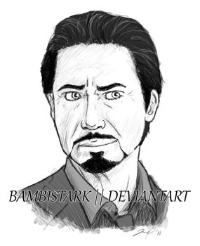 Robert Downey Jr - Tony Stark by bambistark