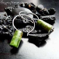 Green Turquoise SS Hoops by che4u