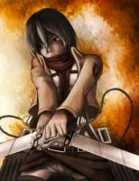 Attack on Titan - Mikasa Ackerman by FixelCat