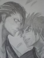 ichigo and byakuya by diabeticartist
