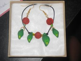 Clay Caned Necklace and Earrings by sing2mi