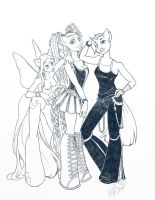 The Gals - tight pencils by Bee-chan