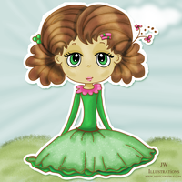 Green Eyed Girl by jdDoodles