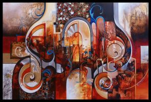 ispahan abstract painting by Amytea