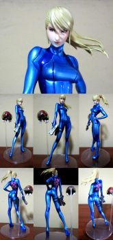 SAMUS ARAN: ZERO SUIT METROID OTHER M MAX FACTOR by IDarkShadowI