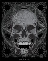 Skull Head T-shirt Design by Oblivion-design