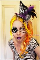 . mad hatter zebra . by Countess-Grotesque