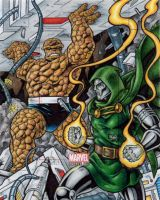 Thing vs. Dr. Doom - Marvel Bronze Age by tonyperna