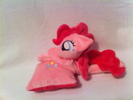 Pinkie and her pillow by PlanetPlush