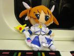 Nanoha rides the London Underground by Candyfloss-Unicorn