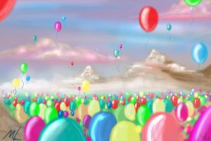 Land of Balloons by mree