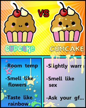 Cupcake VS Cumcake by lordzeppo
