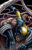 wolverine vs omega red by belgerles