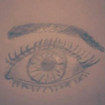 Practiced drawing a human eye! by FoxyPirate56912