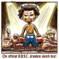 SD ComicCon Drink N Draw Boxer by dchan316